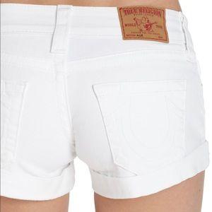 True religion white Allie shorts size 25